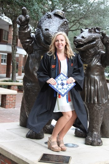 Quilted Graduation cap with Albert and Alberta University of Florida