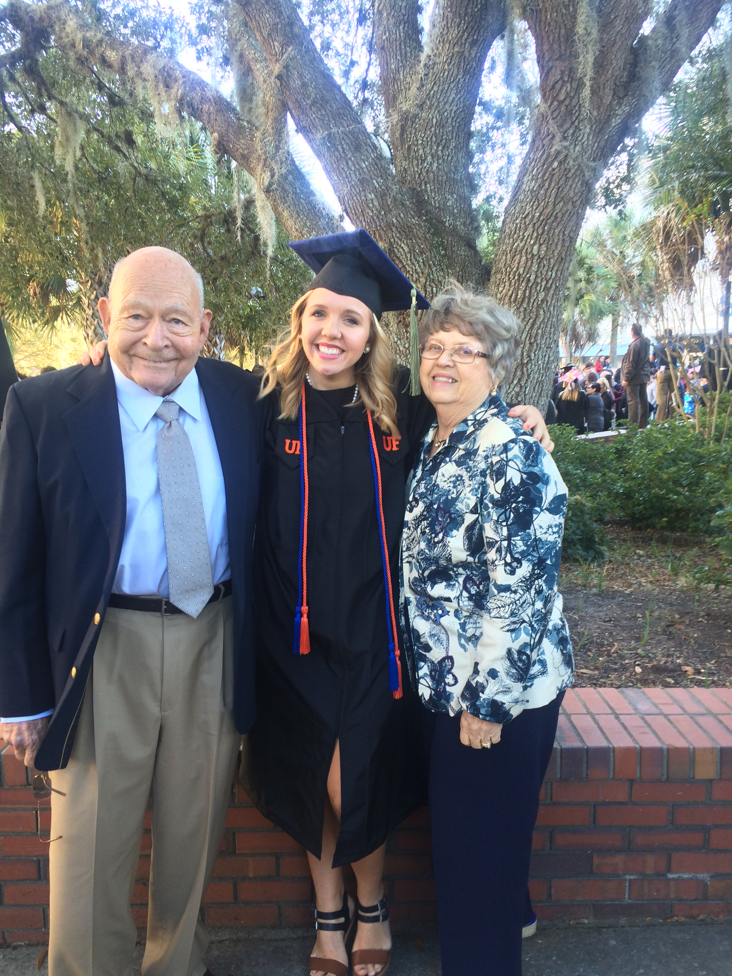 Celebrating undergrad graduation at the University of Florida