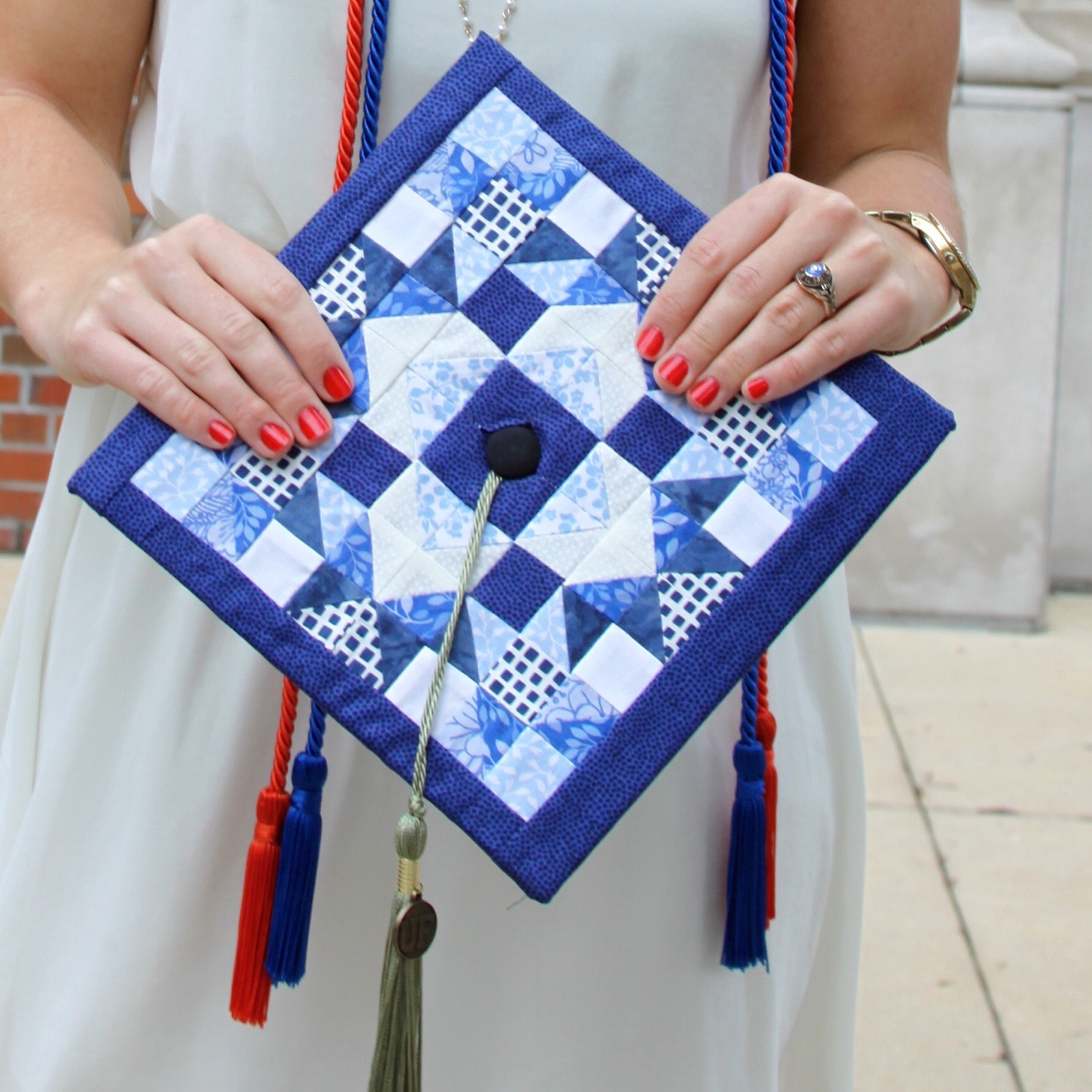 Quilted Graduation cap, University, Grad Cap
