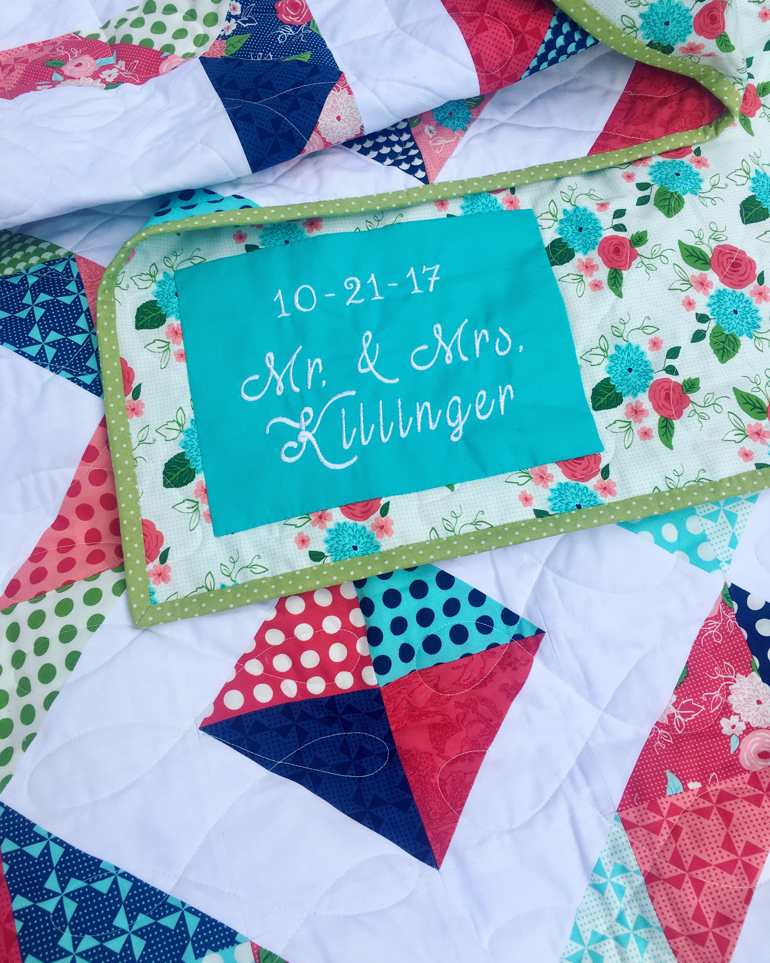 How to Label Your Quilt with an embroidery machine