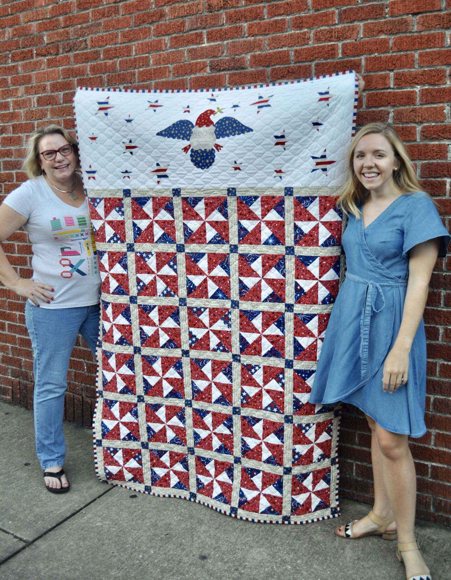 Patriotic quilts using AccuQuilt