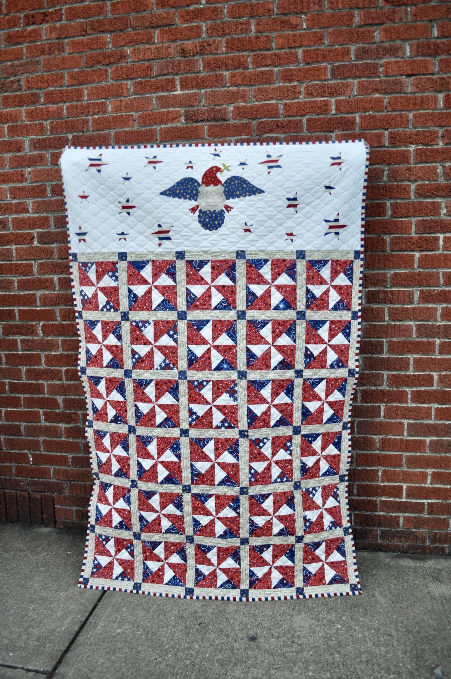 Patriotic quilts using AccuQuilt