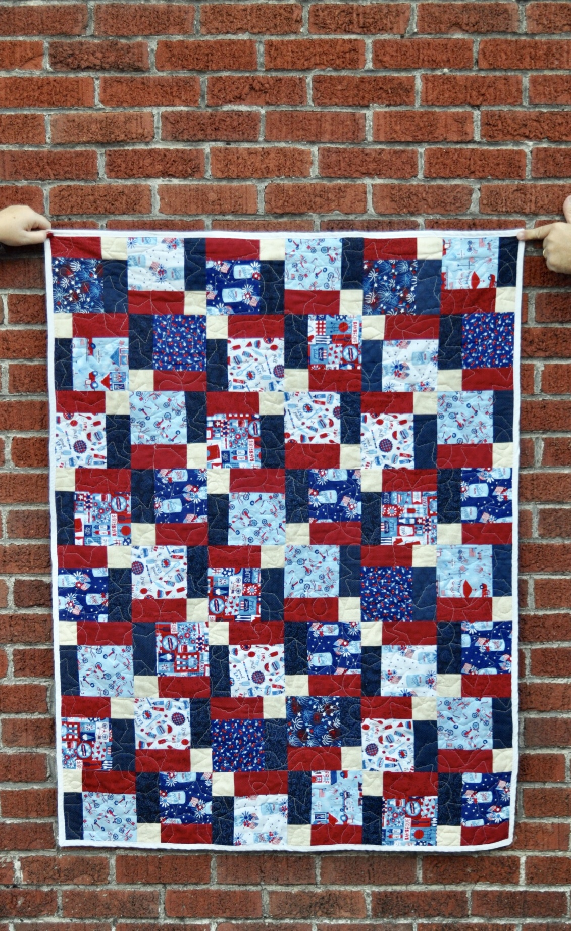 Patriotic quilts disappearing 9 patch