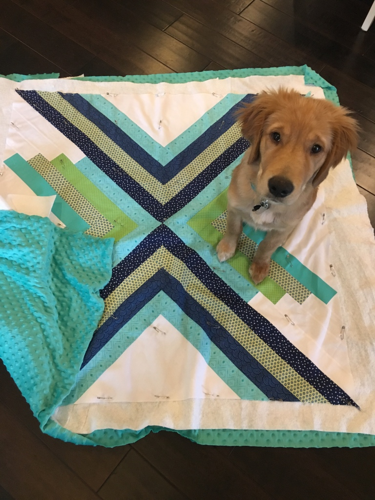Tips and Tricks for how to back a quilt with minky