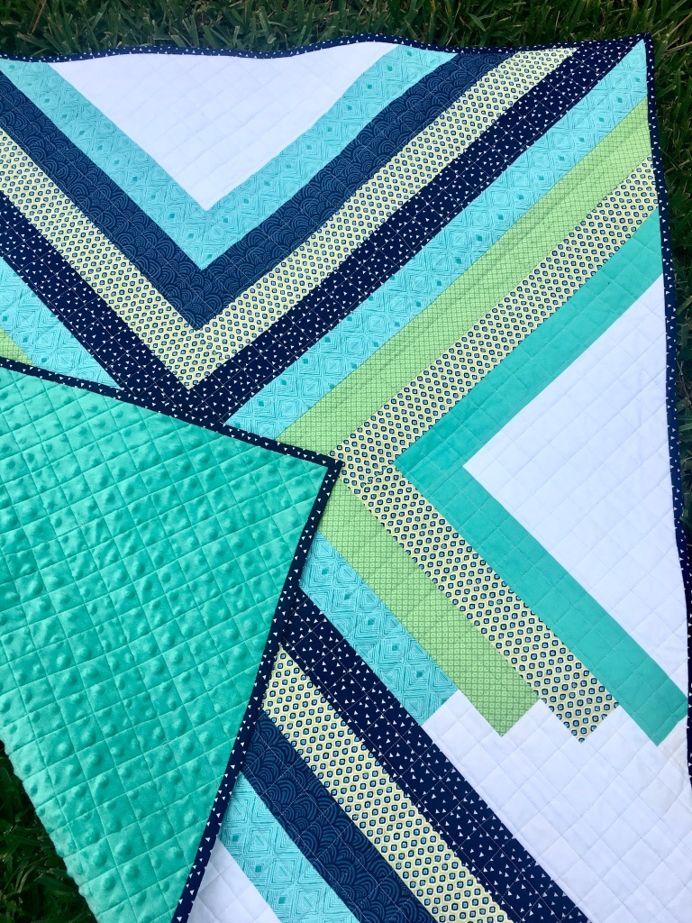 Learn how to back your quilt with Minky fabric