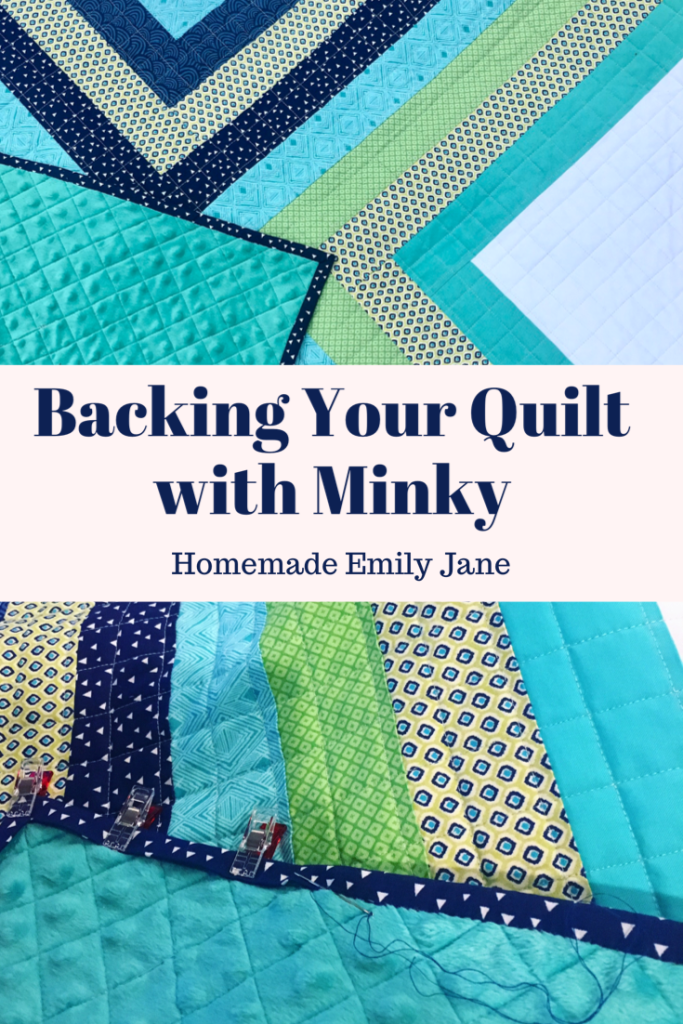 Backing Your quilt with soft minky fabric