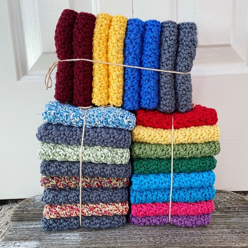 Beginner friendly crochet dishcloths